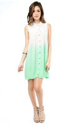 MINK PINK GREAT WHITE SHIRT DRESS AQUA $88- CALL SPLASH TO ORDER 314-721-6442