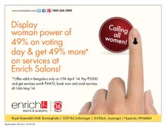 Vote for India!  Show the Power of 49%...  Today in Banglore & Pune, on 24th in #Mumbai & on 28th in A'Bad & Vadodara!