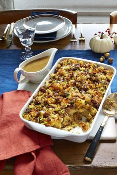 Cornbread, Sausage and Chestnut Stuffing - WomansDay.com