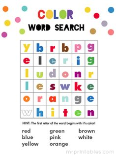 printable word search games