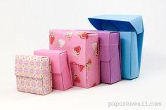 origami flip top box origami instructions #origami #box #giftbox #tutorial #instructions