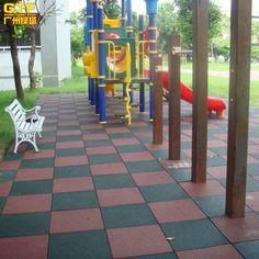 Kids Playground Anti-slip Rubber Flooring Outdoor Safety Mat