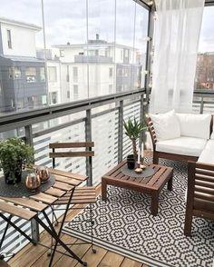 Küçük apartman balkonları için fikirler