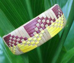 Hand Woven Products, Made in Kona Hawaii by UlanaLauhala Basket Weaving, Hand Weaving, Kona Hawaii, Woven Bracelets, Weaving Patterns, Basket Ideas, Crafty Craft, Creative Art, Weave
