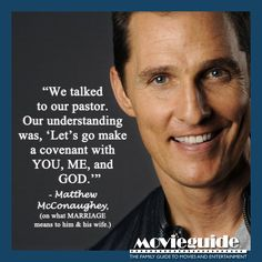Wow! Matthew McConaughey's meaning of marriage!