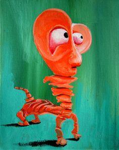 Creamsicle   George Pearlman, Monster Series #monster #painting