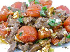 Boeuf aux tomates et basilic