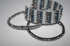 Weben mit Glasschliffrondellen Bracelets, Jewelry, Fashion, Arts And Crafts, Weaving, Creative, Schmuck, Moda, Jewlery