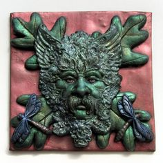 FIMO 50 World project tile from Polymer Art East Midlands Group, Great Britain