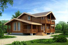 проект деревянного дома шале 142 кв метров