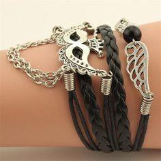 Telesthesia Leather Woven Bracelet