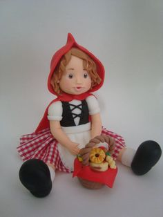 Porcelana Fría - Cold Porcelain - Little Red Riding Hood