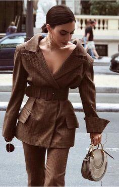 Oversized Blazer / street style fashion / fashion week Plaid oversized Plaid Blazers to Shop Fitness Motivational Quotes – Inspire You to Keep… Cool Street Fashion, Look Fashion, Womens Fashion, Fashion Trends, Fashion Beauty, Brown Fashion, Fashion 2018, Cheap Fashion, Latest Fashion