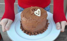 Red Wine Raspberry Chocolate Cake For Two - uses 6 inch round cake pans