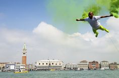 Chinese artist Li Wei performs in front of Saint's Mark as part of the 55th International Art Exhibition on May 28, 2013 in Venice, Italy. Photo by Marco Secchi. Thanks to @Scott Dudgeon  #Photography