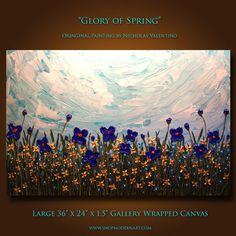 Original Palette Knife Floral Abstract Painting by ShopModernArt, $169.99