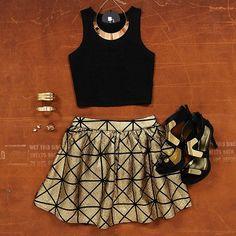 ✨ Black & Gold ✨ Shop this outfit at www.bb.com.au Web Instagram User » Followgram