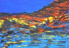 """Título""""Paisaje Van Gogh"""" TécnicaAcrílico sobre tela Medidas1.00 x .70 mts"""