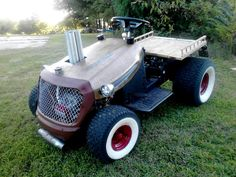 Custom Built Garden Tractors | ... and shared his Lil' Rat, an old school rat rod lawn mower with us
