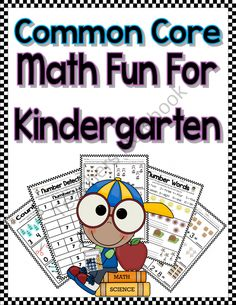 Common Core Kindergarten Math Fun product from Read-Like-A-Rock-Star on TeachersNotebook.com
