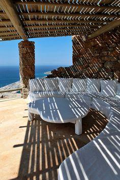 contemporary white patio furniture