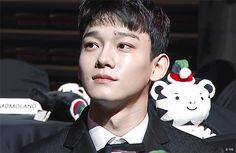 EXO Jongdae Chen smiling at AAA