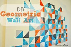 geometric painting wall - Pesquisa Google