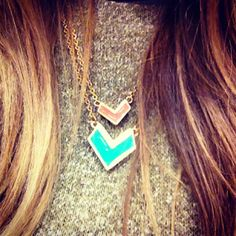 Pretty little chevron neckalces