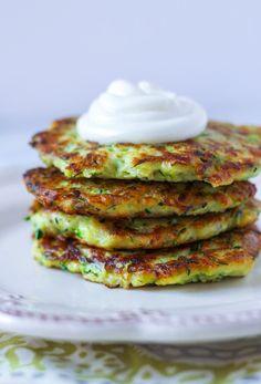 Parmesan & Garlic Zucchini Pancakes | Zen & Spice