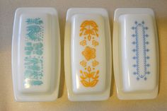 Old school butter dishes. I want!