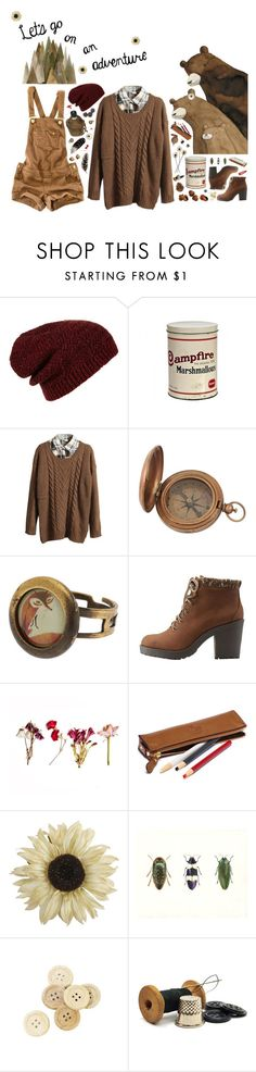 """""""deep in the hundred acre woods.."""" by hannahhnd ❤ liked on Polyvore featuring Topshop, Retrò, Pull&Bear, Charlotte Russe, Vernissage, Pier 1 Imports, House of Harlow 1960, C.R.A.F.T. and Forever 21"""