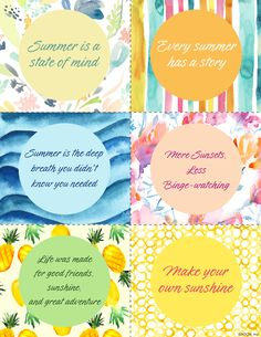 Printable Summer Quo