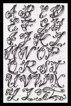 Cholo Tattoo Alphabet | As someone who is interested in both… | Flickr