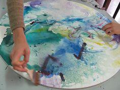 """Pintando los """"Tondos comunitarios"""" en la cátedra Pintura IV"""