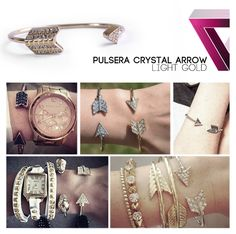 crystal arrow bracelet