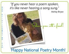 Great website for National Poetry Month - I love Kristine's poetry!