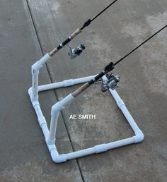 homemade rod holder for shore fishing | Homemade Fishing Rod Holder From Water Pipe simply
