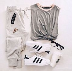 adidas, outfit, and fashion Bild Cute Casual Outfits, Sporty Outfits, Fall Outfits, Summer Outfits, Hipster Outfits, Hipster Shoes, Teenage Outfits, Teen Fashion Outfits, Outfits For Teens