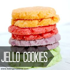 Jello Cookies are fun to make with the kids. You can make them for a birthday party or for the holidays. Either way the kids will love them.