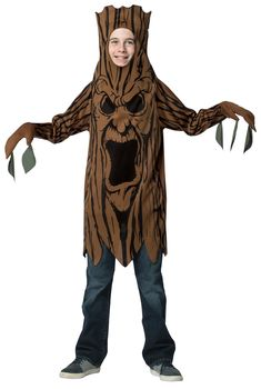 Scary Tree Teen Boys Costume 10-12