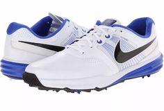 9eb28fdbb4a070 Nike Golf Lunar Command Flywire Shoes 704427-101 Mens Size 8.5 White Blue   Nike