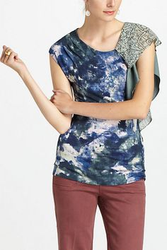 Watercolored Flourish Top 68$ on sale 19$ -40% for 12$