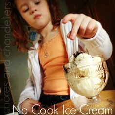chores and chandeliers : No Cook {Raw Milk} Ice Cream