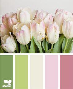 Tulip Tones by Design Seeds Design Seeds, Colour Schemes, Color Patterns, Color Combos, Colour Palettes, Color Balance, Color Swatches, Color Of Life, Color Pallets