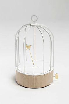 'bird cage clock' designed by dorothée loustalot