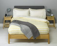 Bedroom Plain Grey Wall Paint Color Background Paired With Wooden Bedroom Furniture Also Pale Yellow Lined Bedding Set Fabulous Bedding Ideas with Chic Yellow Duvet Sets Bedroom Furniture Uk, Bedroom Decor, Bedroom Ideas, Yellow Duvet, Gray Painted Walls, Wooden Bedroom, Bedroom Carpet, Duvet Sets, Home Furnishings
