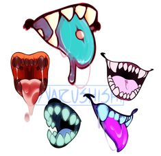 DeviantArt: More Like Candy Teeth by Dusty-Demon Creepy Drawings, Mouth Drawing, Teeth Art, Sketch Book, Art Prompts, Cartoon Art Styles, Drawing Reference Poses, Art Reference Photos, Dark Art Drawings