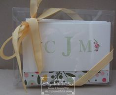 Personalized note card from the Stampin Up Sophisticated Serifs stamp set
