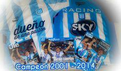 Racing Club de Avellaneda Campeon 2001 - 2014  argentina
