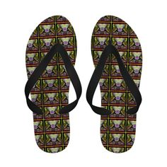 Warrior 1 Yoga Pose Sandal by deprise brescia $41.95  Flip Flops. The Warrior One Asana Art image comes from my book Electric Chi Yoga by deprise brescia. http://www.amazon.com/NAKED-MEDITATIONS-ELECTRIC-Meditations-Electri-ebook/dp/B006M6Y2ZU  The eBook contains vivid yoga images of classic postures. It illustrates my interpretation of vital energies moving through and around us at all times. The vivid colors are vibrations of energy meant to stimulate the chakras. Love and Light, Deprise